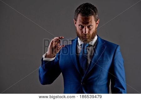 Ceo Or Man With Business Or Credit Card, Business Ethics
