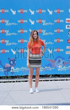 Giffoni Valle Piana Sa Italy - July 24 2016 : Aurora Ruffino at Giffoni Film Festival 2016 - on July 24 2016 in Giffoni Valle Piana Italy
