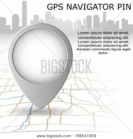 Check in location on the map diagram infographics. Location concept design