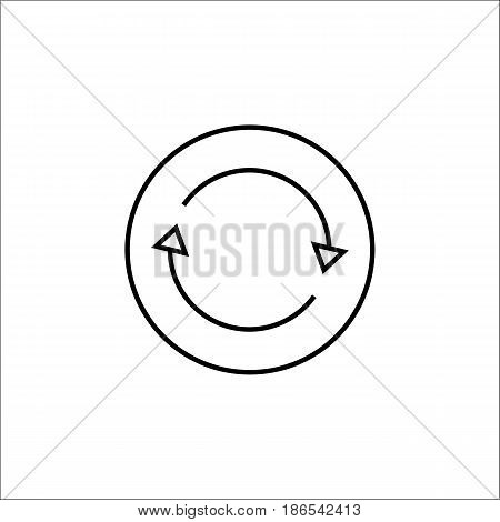Synchronization line icon, mobile sign and app, vector graphics, a linear pattern on a white background, eps 10.