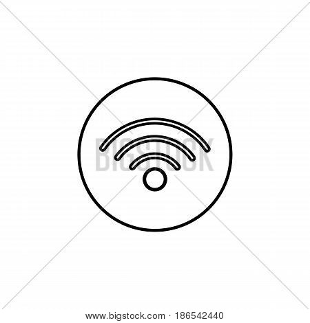 Wifi line icon, mobile sign and hotspot, vector graphics, a linear pattern on a white background, eps 10.