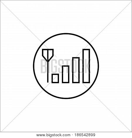 Mobile signal line icon, mobile sign and network pictogram, vector graphics, a linear pattern on a white background, eps 10.
