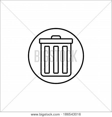 delete and bin line icon, mobile sign and garbage trash pictogram, vector graphics, a linear pattern on a white background, eps 10.