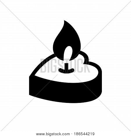 Candle. Black icon isolated on white background