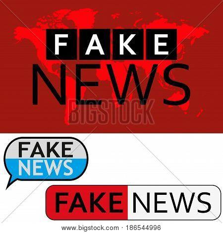 News Logo. Fake news banner set Vector illustration
