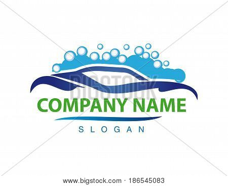 Car wash logotype on a white background