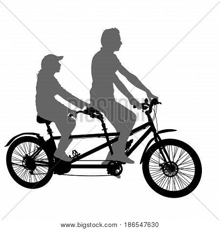 Silhouette Tandem Bicycle Images, Illustrations, Vectors ...