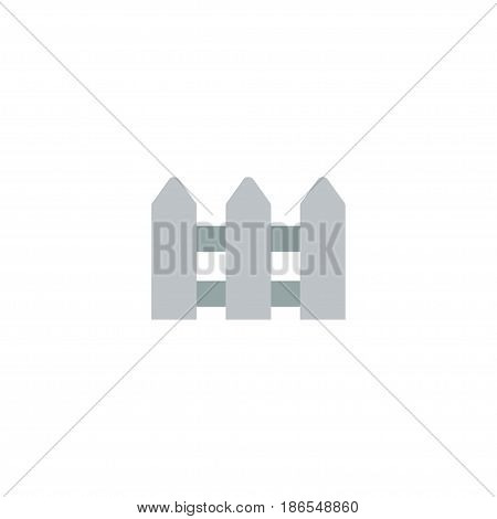 Flat Hedge Element. Vector Illustration Of Flat Fence Isolated On Clean Background. Can Be Used As Hedge, Fence And Fencing Symbols.