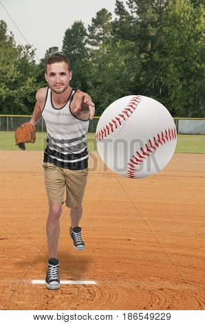 Man Baseball Player