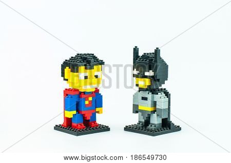 Superman And Batman Micro Blocks