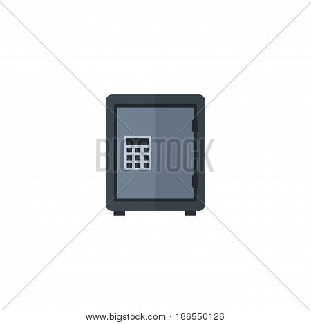 Flat Deposit Element. Vector Illustration Of Flat Safe Isolated On Clean Background. Can Be Used As Safe, Deposit And Vault Symbols.