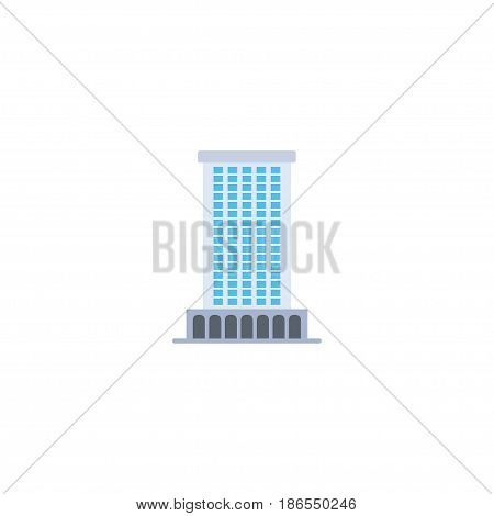 Flat Business Center Element. Vector Illustration Of Flat Office Isolated On Clean Background. Can Be Used As Business, Center And Office Symbols.