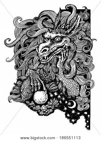 graphics illustration abstraction dragon myths tales zentagle