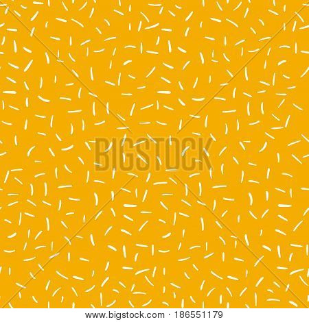 Stroks yellow seamless pattern texture. Repeating simple abstract design.Vector illustration stock vector.