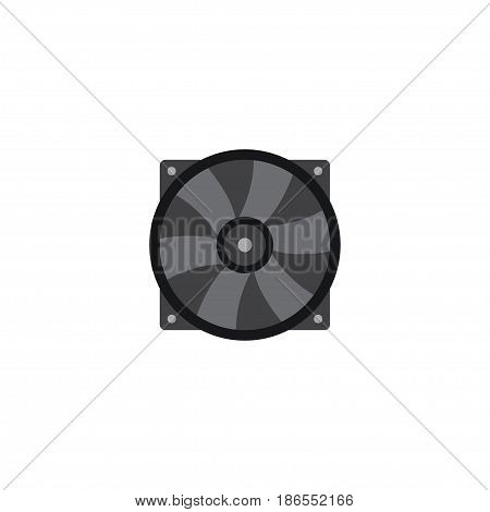Flat Fan Element. Vector Illustration Of Flat Cooler Isolated On Clean Background. Can Be Used As Cooler, Fan And Ventilator Symbols.
