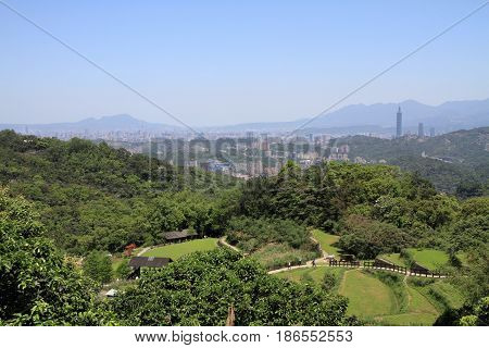 Taipei 101 And Cityscape Of Taipei From Maokong, Taiwan