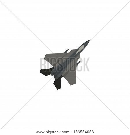 Flat Fighter Plane Element. Vector Illustration Of Flat Aircraft Isolated On Clean Background. Can Be Used As Fighter, Plane And Aircraft Symbols.