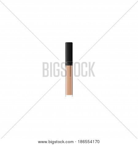 Realistic Concealer Element. Vector Illustration Of Realistic Cover Isolated On Clean Background. Can Be Used As Cover, Cream And Lipstick Symbols.