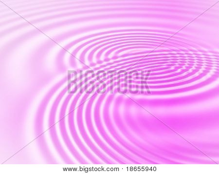 Fractal image of pink concentric ripples for a background.