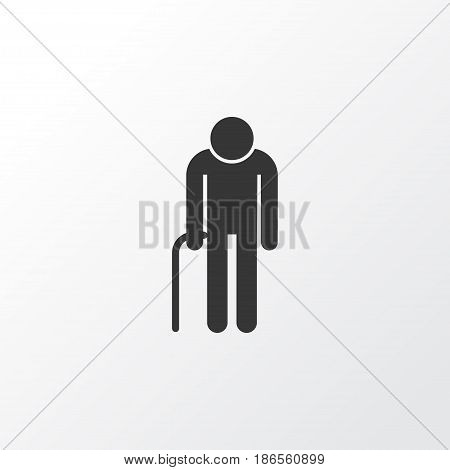 Grandfather Icon Symbol. Premium Quality Isolated Grandpa Element In Trendy Style.