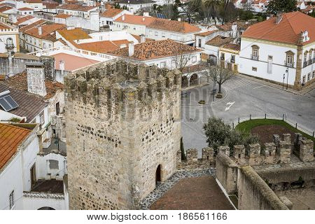 a view over Alter do Chao town and the Castle, District of Portalegre, Portugal