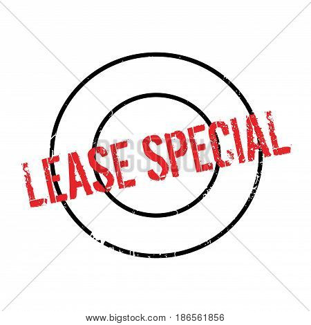 Lease Special rubber stamp. Grunge design with dust scratches. Effects can be easily removed for a clean, crisp look. Color is easily changed.