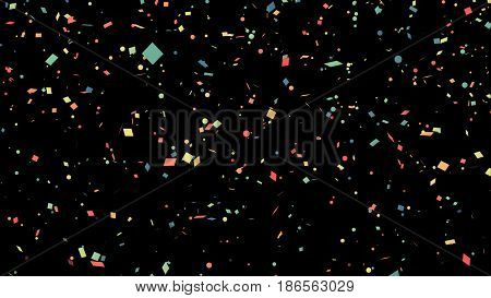 Background Of Multi-colored Flying Confetti