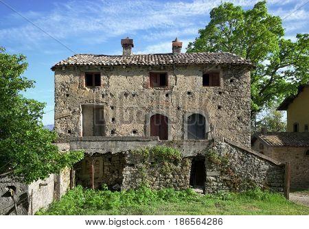 abandoned farm house in Nebrodi Park, Sicily