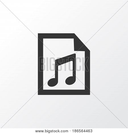 Playlist Icon Symbol. Premium Quality Isolated File Element In Trendy Style.