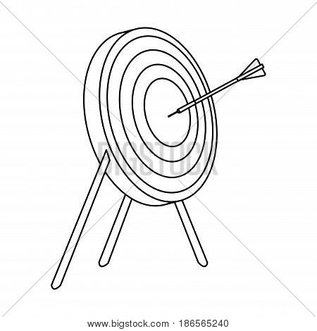 bullseye or target icon image vector illustration design  single black line