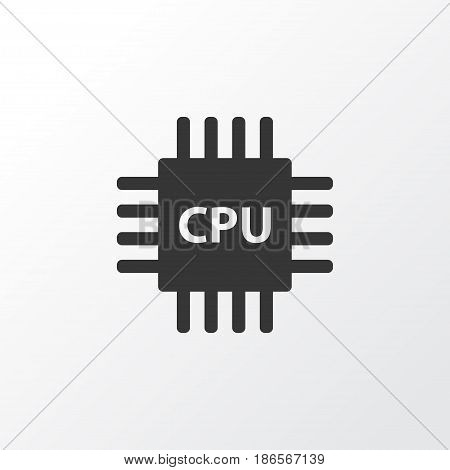 Cpu Icon Symbol. Premium Quality Isolated Motherboard Element In Trendy Style.