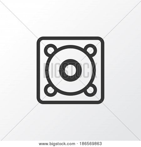 Speaker Icon Symbol. Premium Quality Isolated Music Element In Trendy Style.