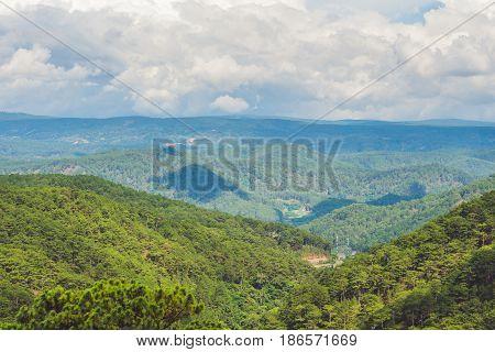 Fantastic Landscape Of Dalat Mountains, Viet Nam, Fresh Atmosphere, Villa Among Forest, Impression S