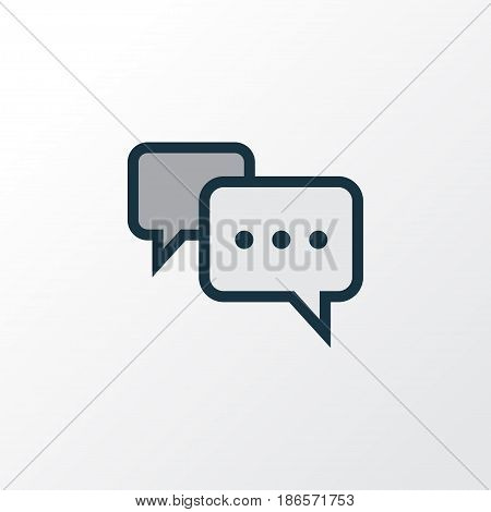 Comment Colorful Outline Symbol. Premium Quality Isolated Conversation Element In Trendy Style.