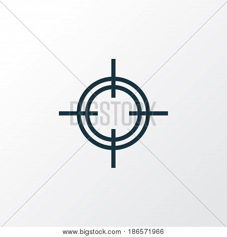Sniper Outline Symbol. Premium Quality Isolated Target  Element In Trendy Style.