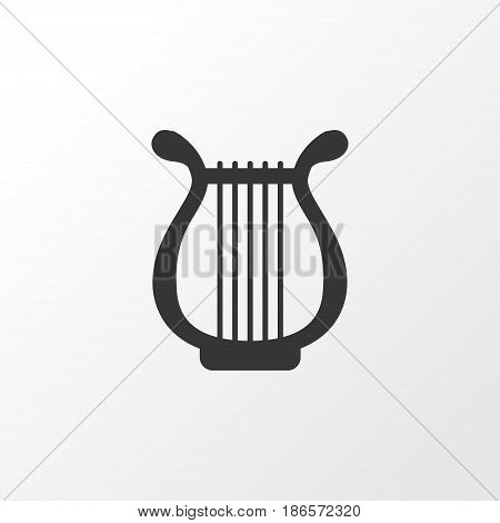 Harp Icon Symbol. Premium Quality Isolated Lyre Element In Trendy Style.