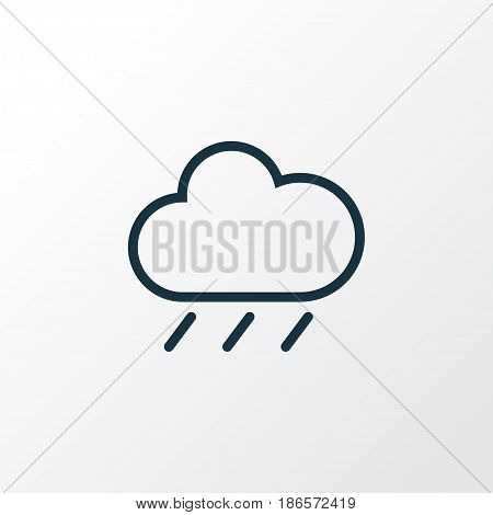 Rainfall Outline Symbol. Premium Quality Isolated Rain Element In Trendy Style.