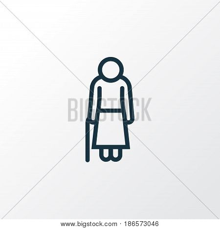 Old Outline Symbol. Premium Quality Isolated Woman Element In Trendy Style.