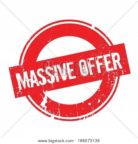 Massive Offer rubber stamp. Grunge design with dust scratches. Effects can be easily removed for a clean, crisp look. Color is easily changed.