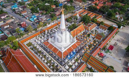 Aerial View Of Wat Pra Maha Thad, In Nakhon Sri Thammarat Province, Thailand