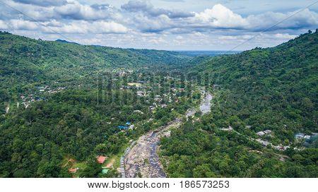 Kiriwong Village, Lan Saka District, Nakhon Sri Thammarat. The Best Ozone Location In Thailand