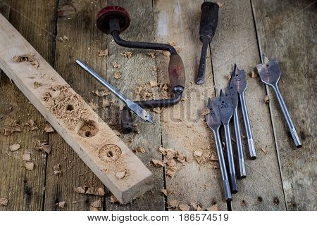 Old Carpentry. Great Passion, Wonderful Job. Old Carpentry Workshop