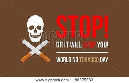 Banner of no tobacco day vector flat collection stock