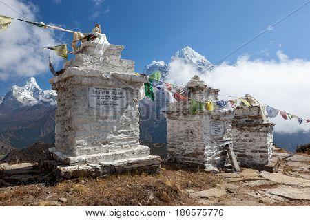 Everest Base Camp Trek/nepal - October 19, 2015: Hillary View Point In Khumjung Village, Sagarmatha