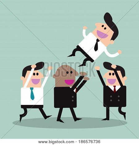 Businessman With Teamwork Spirit, Businessman With Teamwork Spirit
