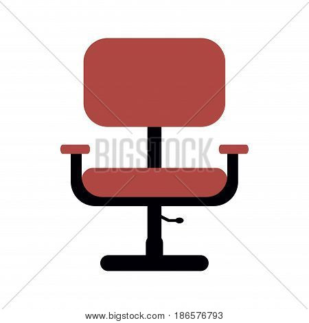 office chair with wheels icon image vector illustration design