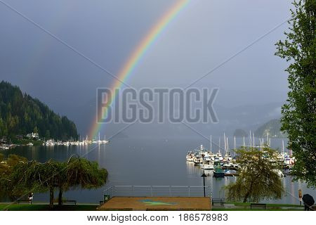 Double Rainbow Over Deep Cove, North Vancouver