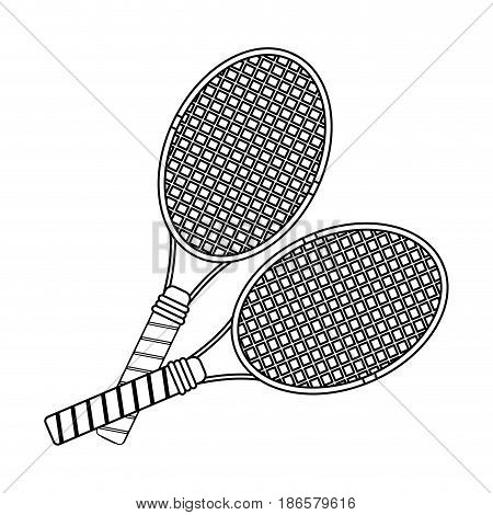 racket or racquet tennis accessories icon image vector illustration design