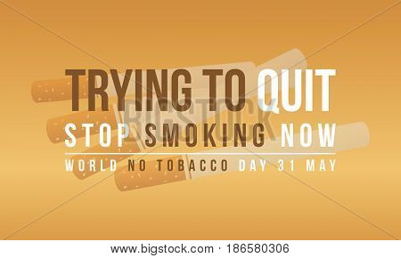 Collection stock of no tobacco day banner vector illustration