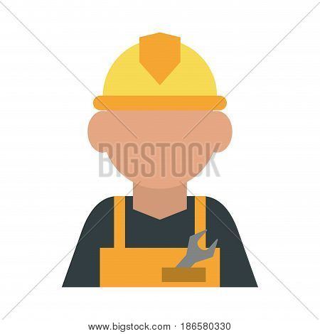 construction worker builder contractor icon image vector illustration design
